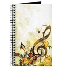 Butterfly Music Notes Journal