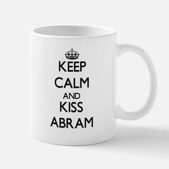 Keep Calm and Kiss Abram Mugs