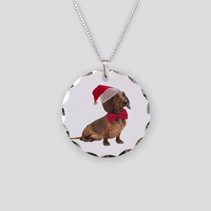 Santa Dachshund Necklace