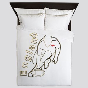 England Style Rugby Ball Queen Duvet