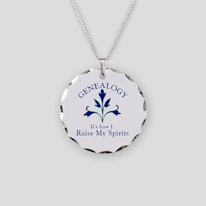 Genealogy Raise Spirits Necklace Circle Charm