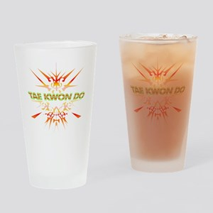 Abstract Tae Kwon Do  Drinking Glass