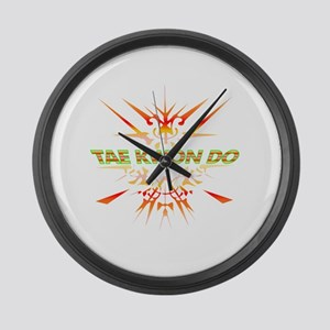 Abstract Tae Kwon Do  Large Wall Clock
