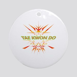 Abstract Tae Kwon Do  Round Ornament