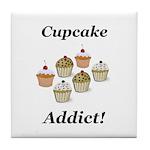 Cupcake Addict Tile Coaster
