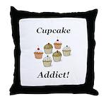 Cupcake Addict Throw Pillow