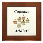 Cupcake Addict Framed Tile