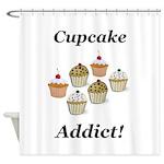 Cupcake Addict Shower Curtain