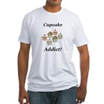 Cupcake Addict Fitted T-Shirt