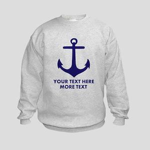 Nautical boat anchor Sweatshirt