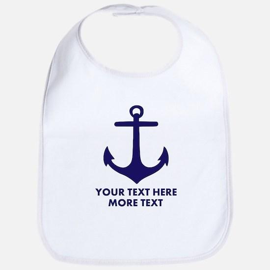 Nautical boat anchor Bib