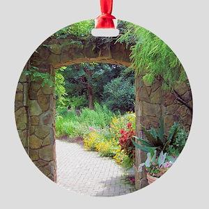 Stone Door Path Round Ornament