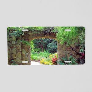 Stone Door Path Aluminum License Plate