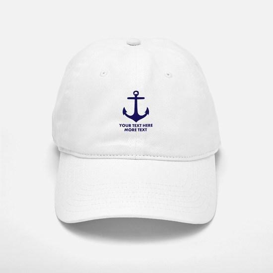 Nautical Sailing Boat Anchor Baseball Baseball Baseball Cap
