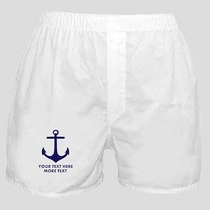 Nautical boat anchor Boxer Shorts