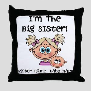 Big Sister 1 (blonde) - Customize! Throw Pillow