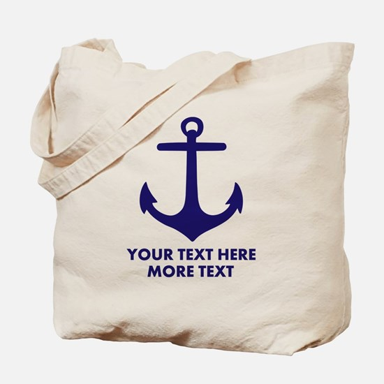Nautical boat anchor Tote Bag