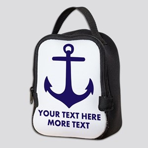 Nautical boat anchor Neoprene Lunch Bag