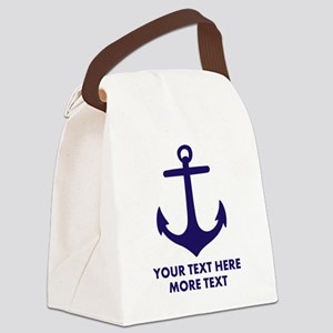 Nautical boat anchor Canvas Lunch Bag