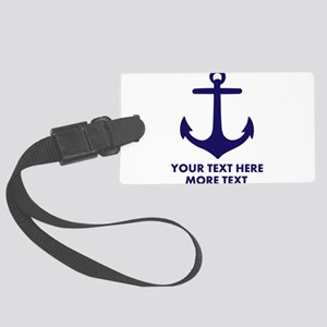 Nautical boat anchor Luggage Tag