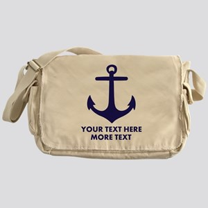 Nautical boat anchor Messenger Bag