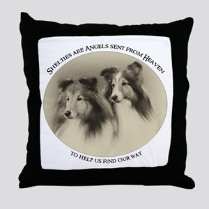 Vintage Shelties Throw Pillow