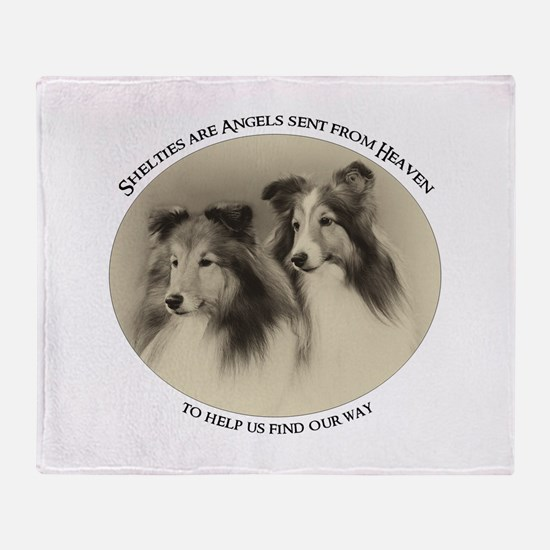 Vintage Shelties Throw Blanket