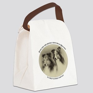 Vintage Shelties Canvas Lunch Bag