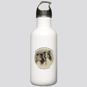 Vintage Shelties Stainless Water Bottle 1.0L