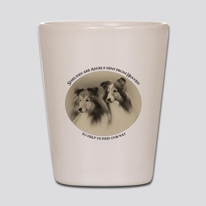 Vintage Shelties Shot Glass