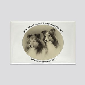 Vintage Shelties Rectangle Magnet