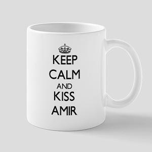 Keep Calm and Kiss Amir Mugs