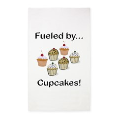 Fueled by Cupcakes 3'x5' Area Rug
