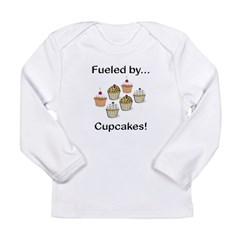 Fueled by Cupcakes Long Sleeve Infant T-Shirt