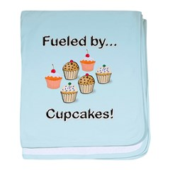 Fueled by Cupcakes baby blanket