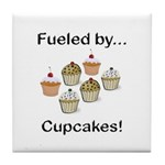 Fueled by Cupcakes Tile Coaster