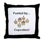 Fueled by Cupcakes Throw Pillow