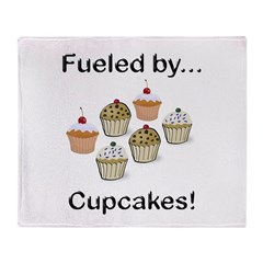 Fueled by Cupcakes Throw Blanket