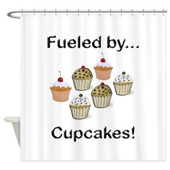 Fueled by Cupcakes Shower Curtain