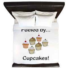 Fueled by Cupcakes King Duvet