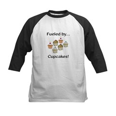 Fueled by Cupcakes Kids Baseball Jersey