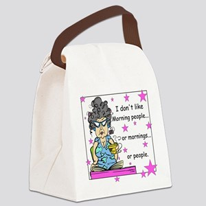 Don't Like Mornings Canvas Lunch Bag