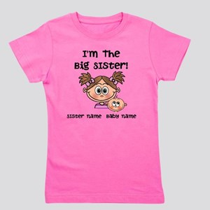 Big Sister 1 (brown) - Customize! Girl's Tee