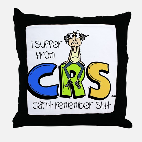 Male CRS Throw Pillow