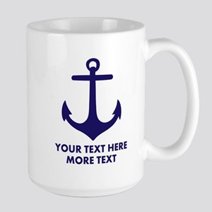 Nautical Sailing Boat Anchor Mugs For Sailor