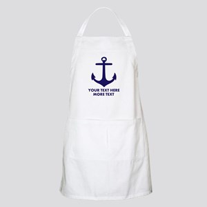 Nautical Sailing Boat Anchor Bbq Apron