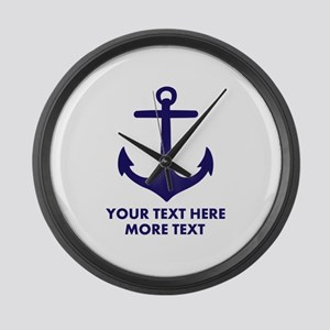 Nautical boat anchor Large Wall Clock
