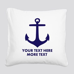 Nautical boat anchor Square Canvas Pillow