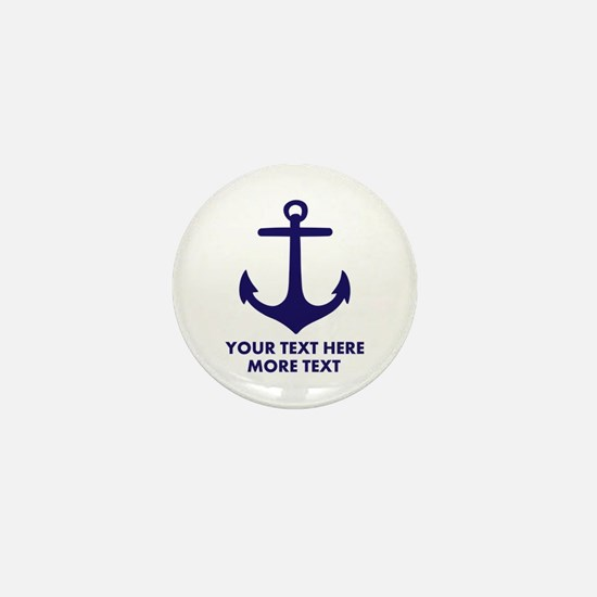 Nautical boat anchor Mini Button