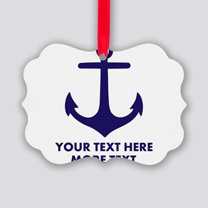 Nautical boat anchor Ornament